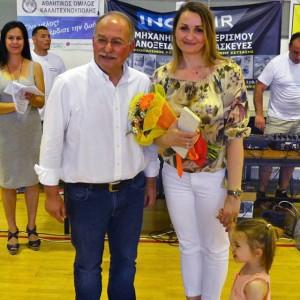 Η Παγκόσμια Πρωταθλήτρια της Ρυθμικής Γυμναστικής Νίνα Κοντοπούλου τιμήθηκε από τον Δήμαρχο Ραφήνας - Πικερμίου.