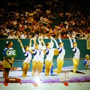 Olympic Games Atlanta 1996 — Βασιλική Τσαβδαρίδου, Κωνσταντίνα Μαργαρίτη, Γεωργία Τέμπου, Παπανικολάου Κική, Βιργινία Καρέντζου και Μαρία Αριστίδου.